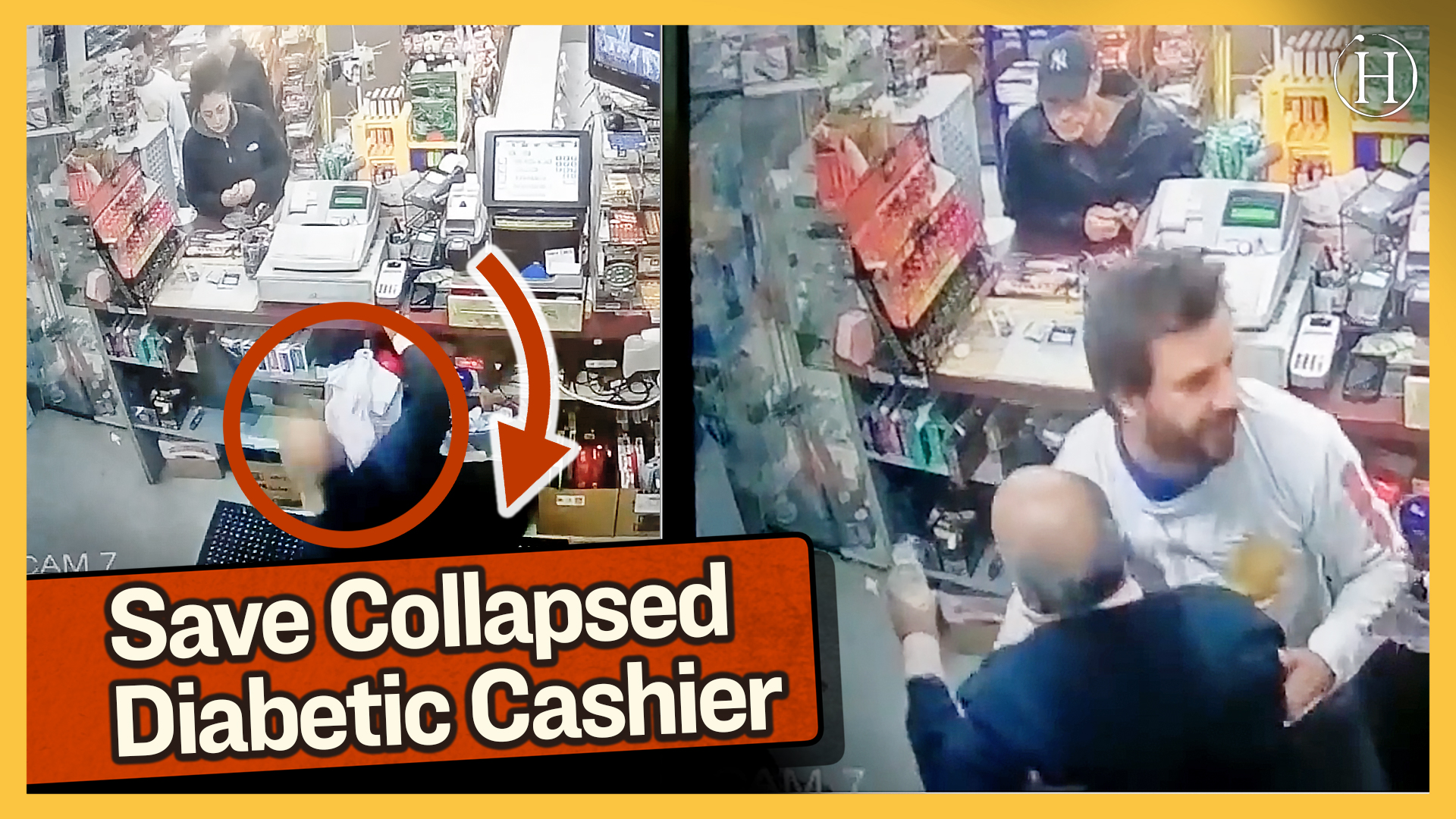 Duo Comes to Rescue of Collapsed Diabetic Cashier | Humanity Life