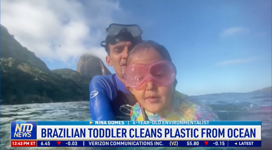 Brazilian Toddler Cleans Plastic from Ocean