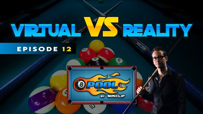 VIRTUAL VS REAL - 8-BALL POOL TRICKSHOTS - Ep 12!!!