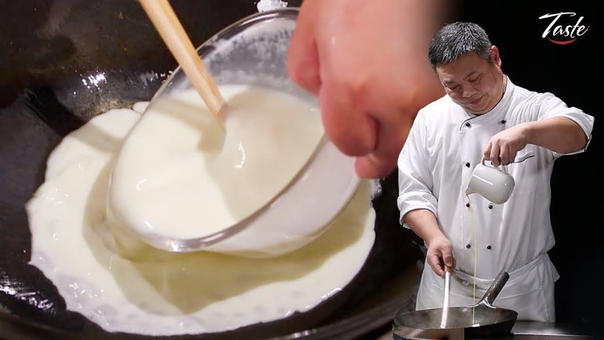 ASMR Melt In Your Mouth Milk Stir Fry by Masterchef | 牛奶瞬間變高檔菜! Taste Show