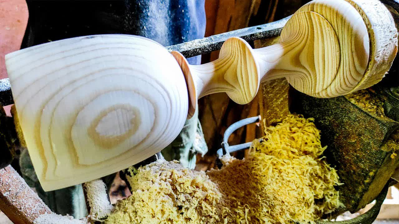 Woodturning a Wooden Goblet    Crafty Island