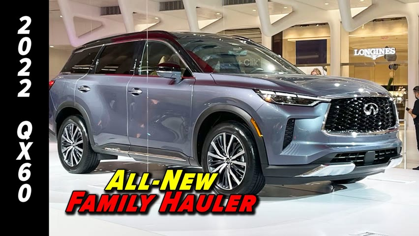The Family Friendly Luxury 3-Row | 2022 Infiniti QX60 First Look